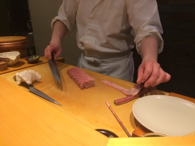 Chef Preparing Otoro
