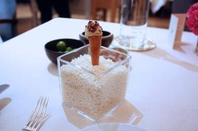 Foie Gras Ice Cream, Mango, Sherry Vinegar Caramel