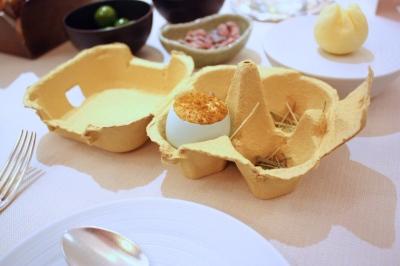 """Amuse Bouche - Chestnut Mushroom, Coconut & Curry """"en cocotte"""""""