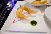 Crispy langoustine papillotes, basil condiment