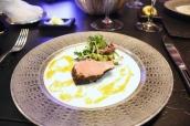 Allaiton lamb with truffle crust, fresh herbs salad
