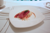 Amuse Bouche - Smoked Duck, Pickled Vegetables, Cantonese Sauce