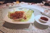 Stir-Fried Minced Racan Pigeon in Lettuce Wraps