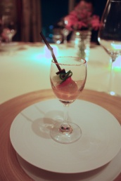 Amuse Bouche - Tomato water, Olives