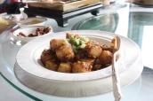 Wok-fried Turnip Cake and Air-dried Meat with Homemade XO Chili Sauce