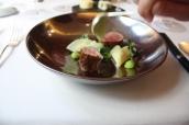 Limousin veal, Provola, Peas, Tamarind