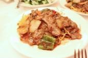 Black Bean Beef & Crispy Noodles