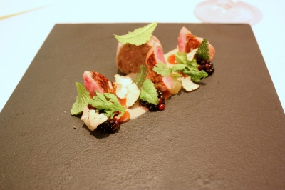 Quail breast and rillettes with rosehip and blackberries