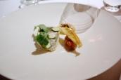 John dory/ courgette/ rouille/ bouillabaisse/ amaretti