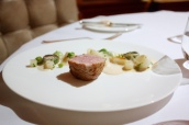 English veal/ blanquette of summer vegetables/ herb gnocchi