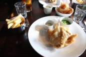 Fish & Chips, Crushed Peas & Home Made Tartar Sauce