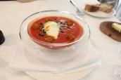 Datterini Tomato Gazpacho, Smoked Eel