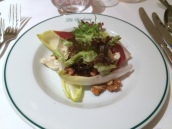 Poached Pear, Roquefort, Endive & Walnut Salad