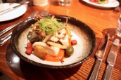 Barbequed Squid and Octopus, Braised Fennel, Caperberries, Red Pepper