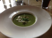 Roast Courgette, Ricotta & Mint Veloute