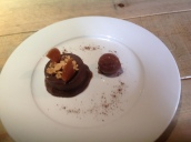 Chocolate Fondant, Salted Caramel & Chocolate Sorbet