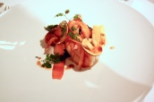 Lobster, carrot, black garlic