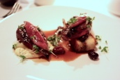 Grouse, Fontina, grapes, truffle