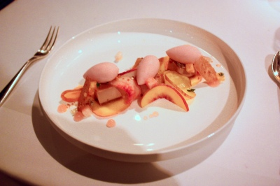 Meadowsweet, custard, peach