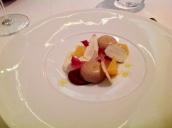 Foie gras duds/Medjool date/yoghurt/fresh chestnuts