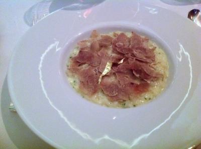 Spring Onion Risotto, White Alba Truffle