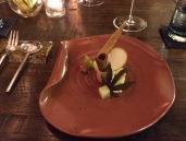 Foie Gras, Apple Textures, Gaufrette Biscuit, Hibiscus
