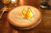 Mandarin Cheesecake, Thyme Sable, Mandarin, Lactose Chard