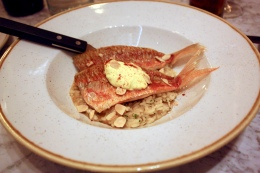 Red mullet risotto
