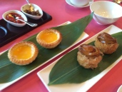 Golden taro puff, abalone; Egg Tartlet
