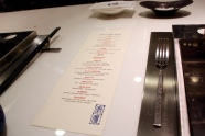 Chef's Table Menu