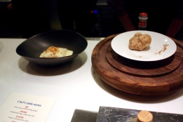 "White Truffle, Duck Egg Yolk, ""Cheung Fun"", Yak Milk Cheese"