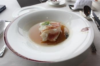 Steamed Garoupa Fillet with Jinhua Ham and Superior Bird's Nest