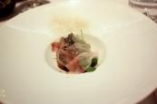 Ricotta Tortellini, Lardo, Mushrooms, Herbs