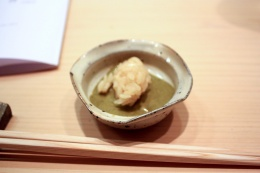 Steamed Abalone with Abalone Liver Sauce