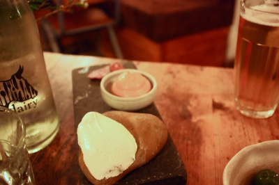 Sourdough, smoked bone marrow butter, chicken liver mousse, cellar salumi