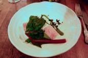 Applewood smoked eel, cucumber, fermented sorrel