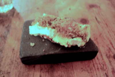Truffled brie de Meaux, fig & walnut toast, rooftop honey