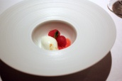 Whipped Buttermilk, Raspberries, Lemon Verbena and Olive Oil