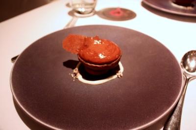 Warm Chocolate, Tartlet with Malt and Banana