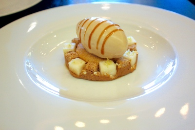Brown Bread Ice Cream (c.1830) - Salted butter caramel, pear & malted yeast syrup