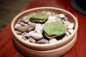 Scallop, alexanders, seaweed
