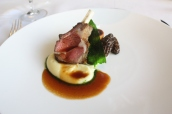 Rack of Herdwick lamb, pomme puree, artichoke, wild garlic