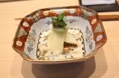 White asparagus with Oscietra Caviar