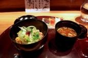 Gohan: Stone bass rice, seasonal vegetables, akadashi miso soup and Japanese pickles