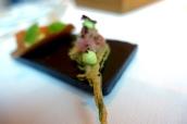 Tempura Shiso Leaf with Tuna Tartare and Wasabi Mayo