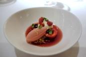 Gariguette & wild strawberries, Brillat Savarin cream, black olive & basil