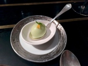 Green apple sorbet with chamomile and marigold