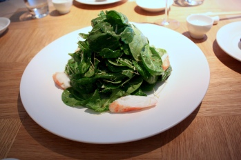 Baby Spinach Salad with King Crab