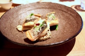Crispy Skin Sea Bass with Quinoa and Enoki Mushroom