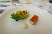 King Crab Salad, Yuzu Mayonnaise, Apple